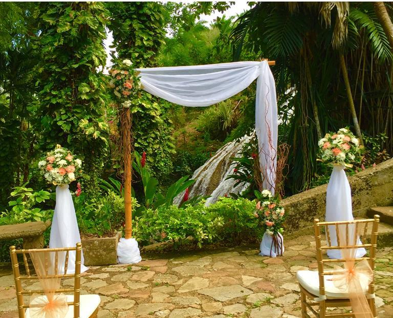 Ocho Rios - Botanical Waterfall Location - Tropical Weddings Jamaica